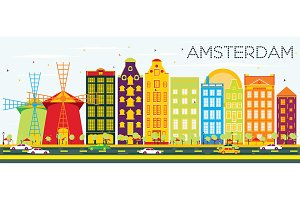 Abstract Amsterdam Skyline