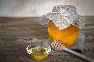 Natural linden honey.