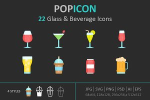 Glass & Beverage Icon set