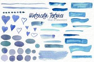 Watercolor Clip Art - Blue