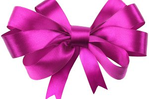 Bow, made of red silk ribbon
