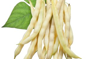 Yellow string beans isolated