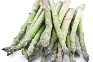 Asparagus isolated on a white