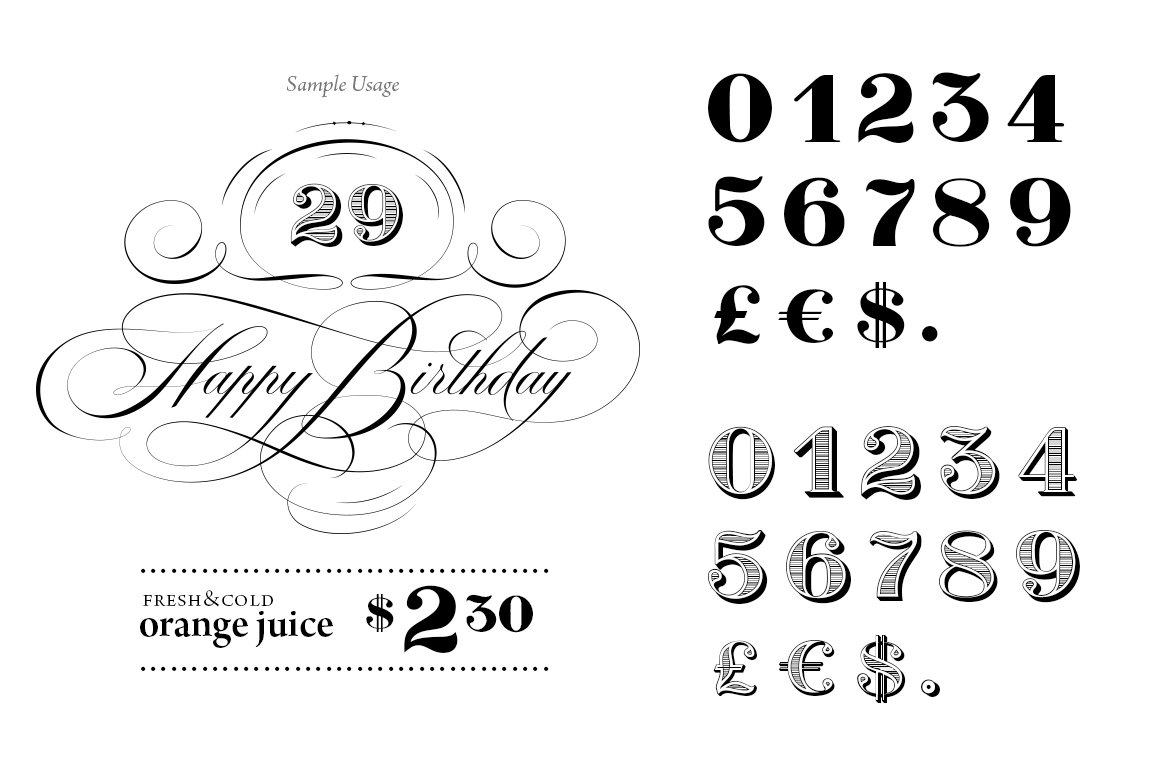 Boldprice numbers currency symbol fonts creative market biocorpaavc Choice Image
