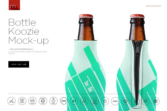 Download Bottle Koozie Mock-up