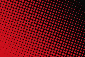 Abstract background of red dots on black background
