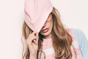 Girl Swag fashion beanie hat.