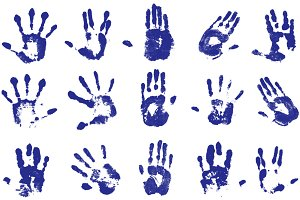 Hands Imprints - Vector/Brush set