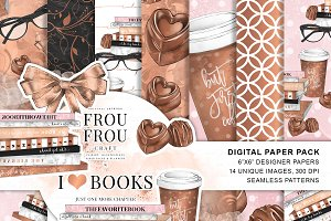 Books Chocolate and Coffee Papers