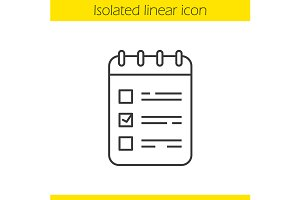 To do list linear icon. Vector