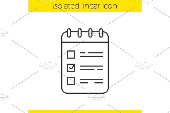 To do list linear icon. Vector - Icons