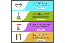 Laboratory banners. Vector
