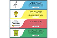 Ecology banners. Vector