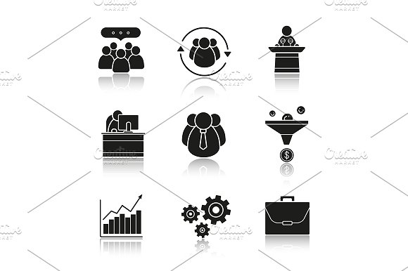 Business. 9 icons. Vector - Icons