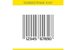 Bar code linear icon. Vector