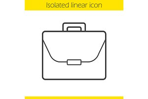 Briefcase linear icon. Vector