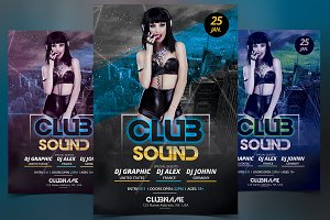 Club Sound - PSD Flyer Template