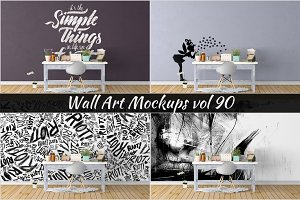 Wall Mockup - Sticker Mockup Vol 90