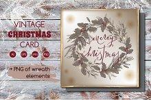 -20% Vintage Christmas card
