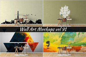 Wall Mockup - Sticker Mockup Vol 91