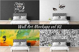 Wall Mockup - Sticker Mockup Vol 92