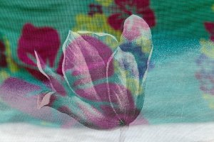 Colorful background of colored scarf