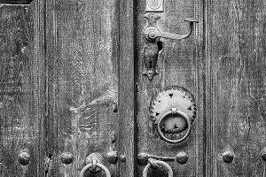 Old door in Veliko Tarnovo, Bulgaria