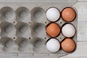 Six Eggs in Large Carton