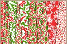 Christmas Red and Green Papers 2