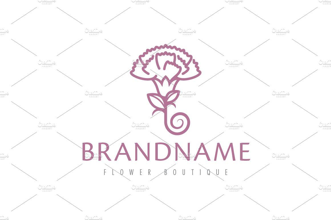 Carnation flower logo logo templates creative market ccuart Images