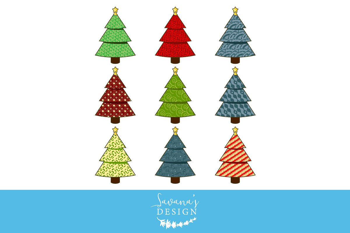 Christmas Tree Clipart Images.Christmas Tree Clipart Illustrations Creative Market