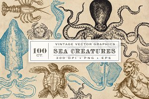 Antique Sea Creatures & Monsters