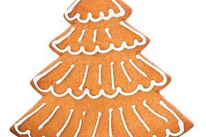 Christmas gingerbread fir tree