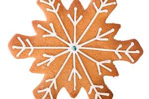 Christmas gingerbread snowflake