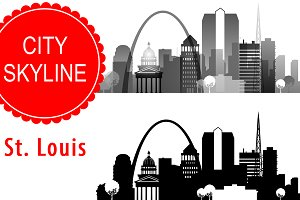 St. Louis city vector skyline