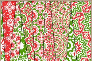 Christmas Red and Green Papers 3