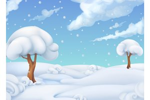 Winter landscape.Vector illustration