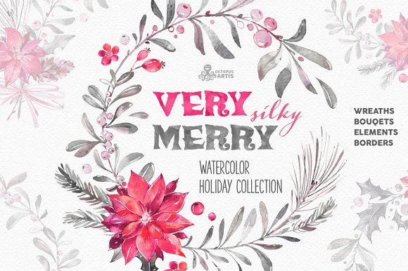 Very Merry Silky. Holiday Collection - Illustrations