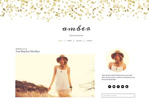 Feminine Gold WordPress Theme