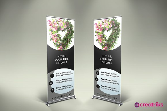 funeral services roll up banner flyer templates creative market