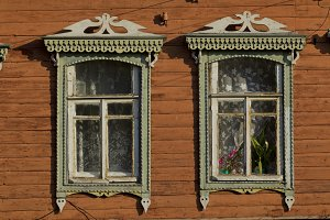 Windows in an old house