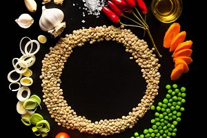 Food Background. circular