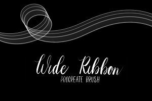 Wide Ribbon Procreate brush