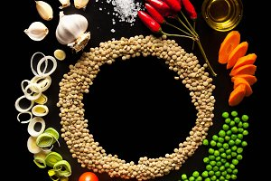 Food Background. lentils