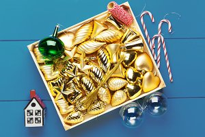 Christmas background. box