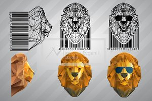Lion from triangles. Set