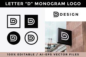 Letter D Monogram Logo
