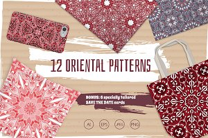 Set of 12 seamless patterns