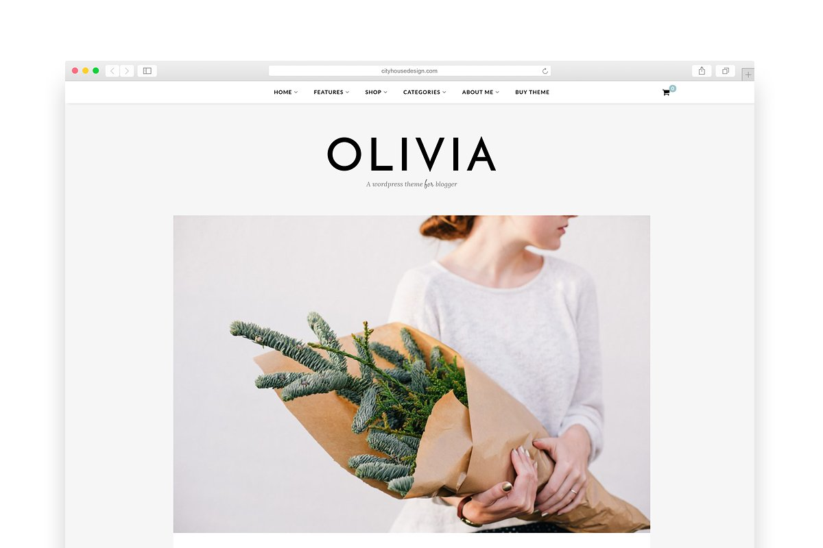 f8e5557f8b1d58 Olivia - A Blog & Shop Theme ~ WordPress Blog Themes ~ Creative Market