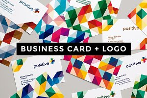Business Card + Positive Logo